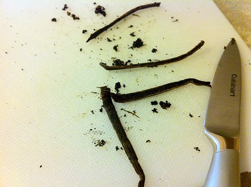 Split Vanilla Beans and Remove Seeds