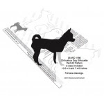 Chihuahua Dog Silhouette Yard Art Woodworking Plan - 2 sizes included - fee plans from WoodworkersWorkshop® Online Store - chihuahua dogs,pets,animals,yard art,painting wood crafts,scrollsawing patterns,drawings,plywood,plywoodworking plans,woodworkers projects,workshop blueprints