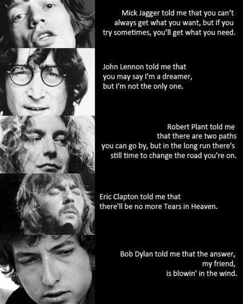 Inspirational Quotes From Classic Rock Songs