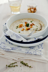 Creamy Cauliflower Soup with Parmesan Cauliflower Crumbs by Meeta K. Wolff
