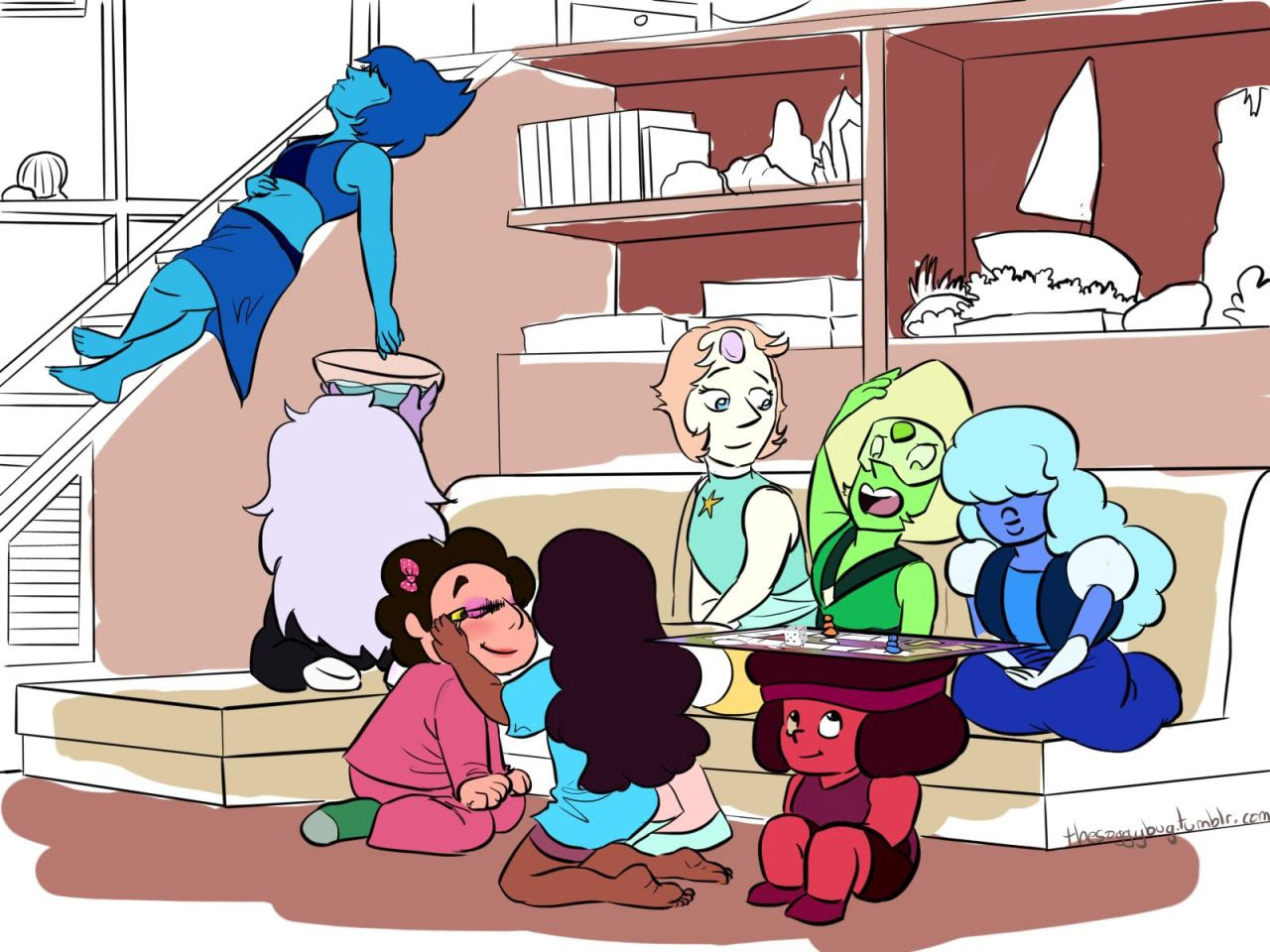 Thank you anon for the idea! Family night with the gems.