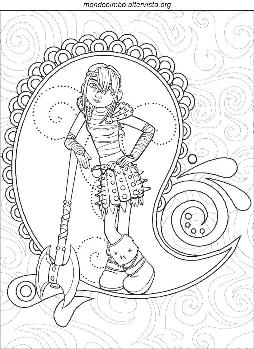 Furia Buia Dragon Trainer Disegni Da Colorare Imagixs Sketch