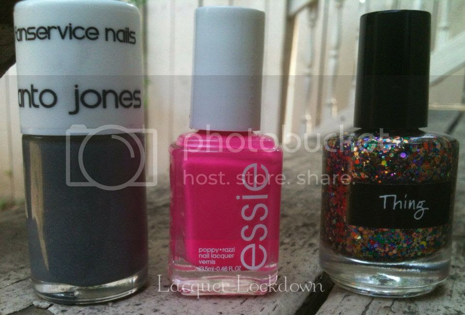 Essie Poppy Razzi, Fanservice Nails, CrowsToes