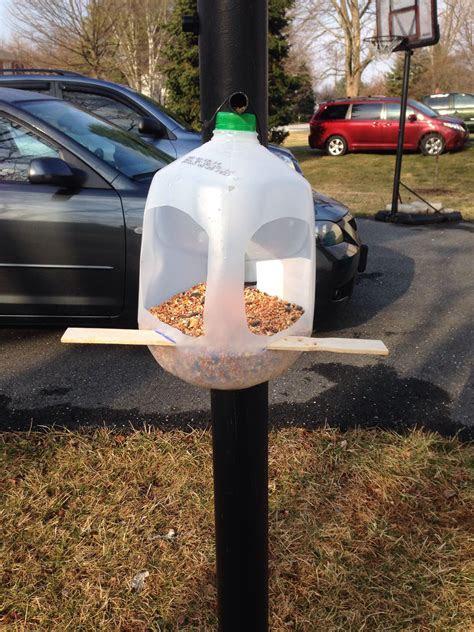 milk jug bird feeder birdhouses milk jug bird feeder