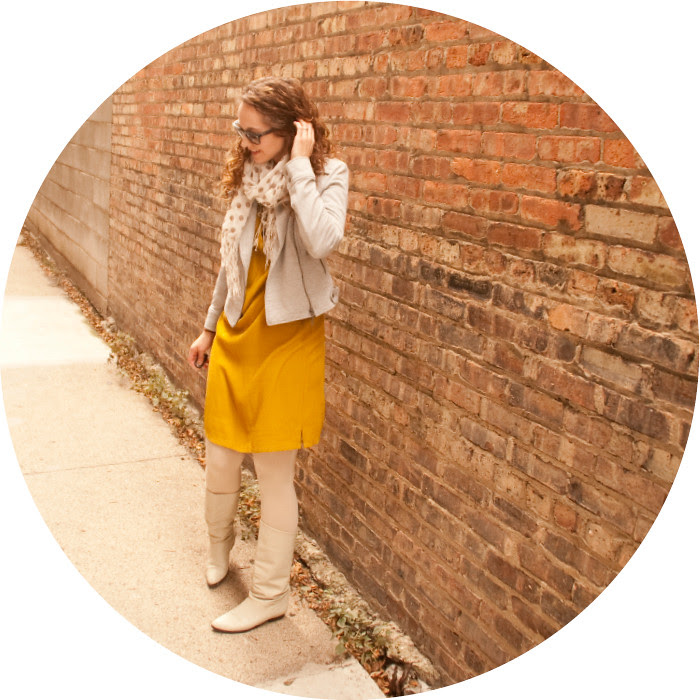 dash dot dotty, yellow dvf dress, dress and moto, white boots,