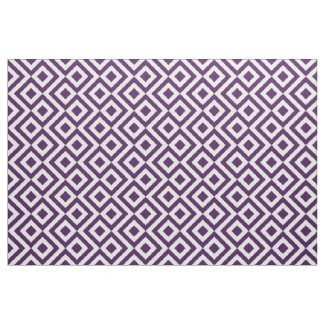Geometric Purple and White Meander Fabric