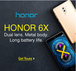 Honor 6X - Dual lens. Metal body. Long battery life.
