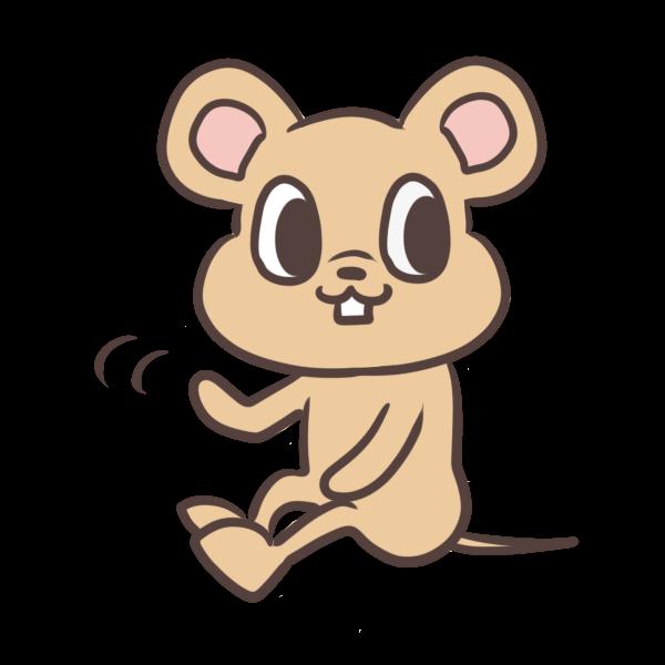 手を振るネズミのイラスト かわいいフリー素材が無料のイラストレイン