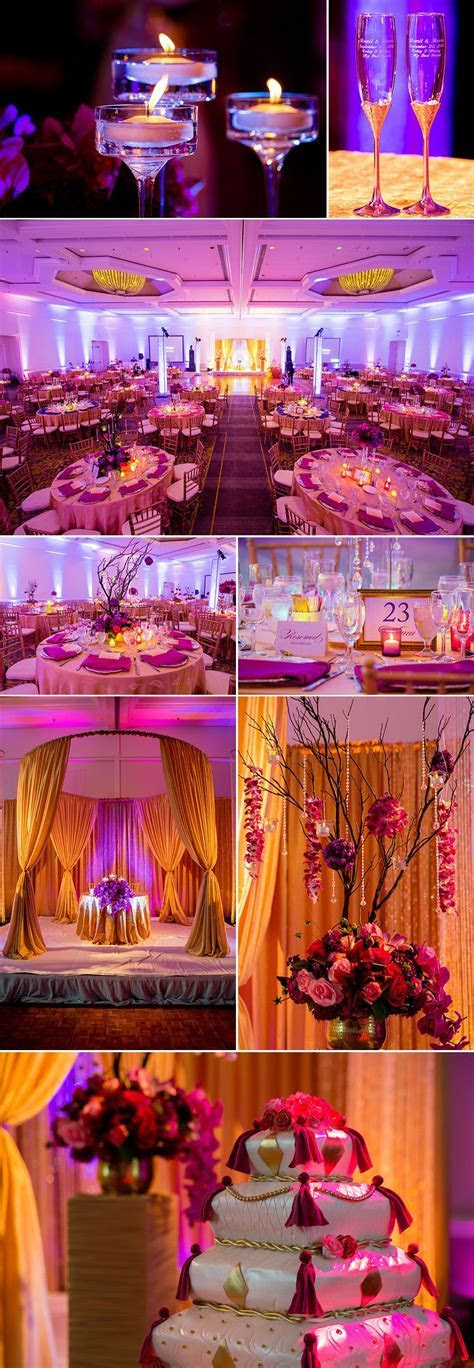 Decoration of Real Indian Wedding Reception in America