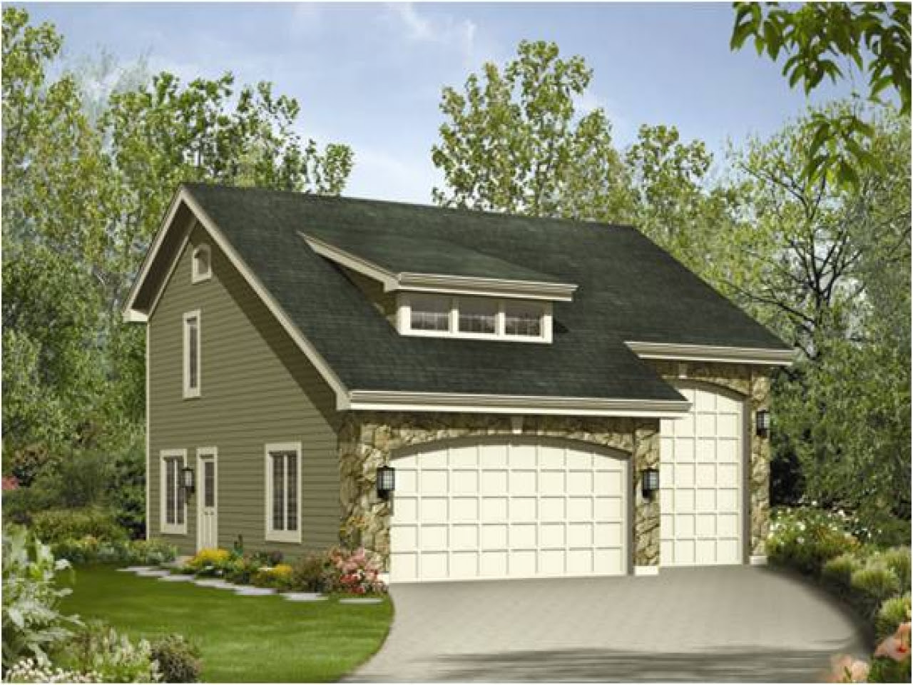 RV Garage with Apartment Plans RV Garage with Guest