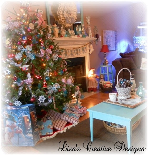 Cozy Cottage Christmas  Traditional  Living Room  raleigh  by