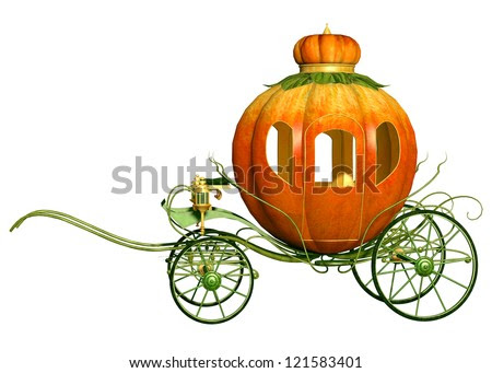 Cinderella Fairy Tale Pumpkin Carriage, Isolated Stock Photo ...