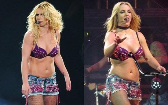 Britney mais gordinha durante show em 2011 (Foto: Reprodução)