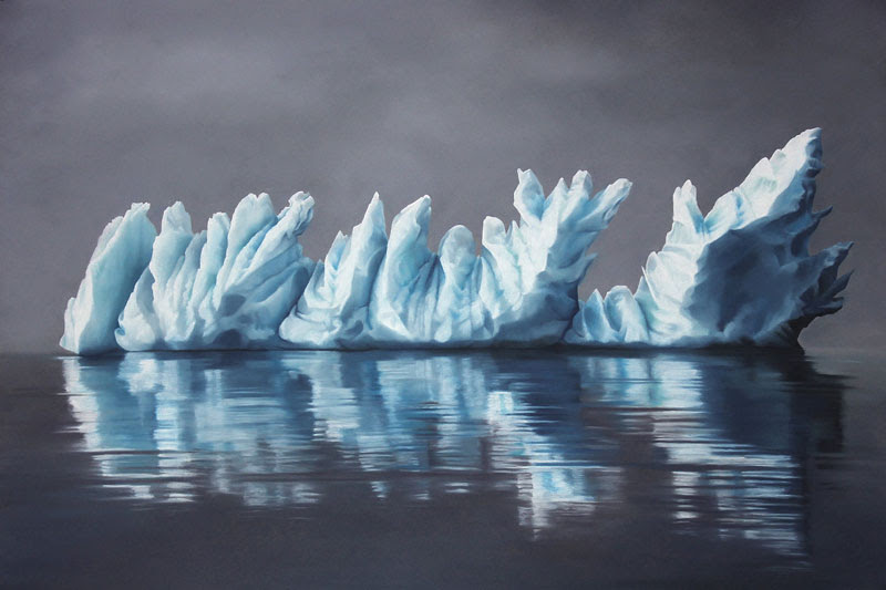 pastel drawings of icebergs by zaria forman (6)