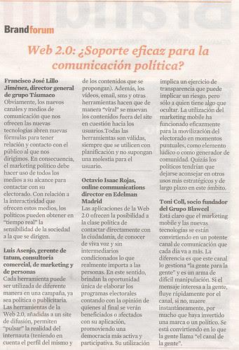 Web 2.0: ¿Soporte eficaz para la comunicación política?