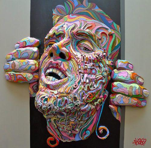 arte tridimensional lienzo