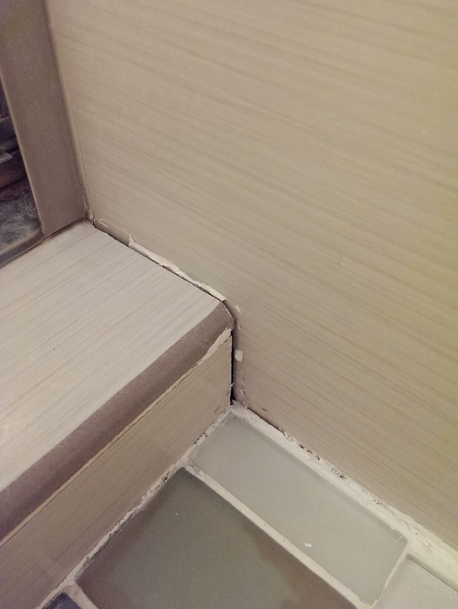 How to fill and seal gap between tile of shower? (floor ...