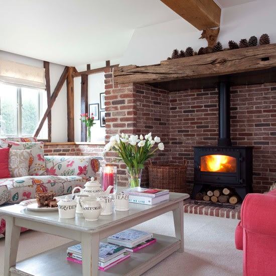 Vintage country living room | Living room design | Wooden beams | Image | Housetohome
