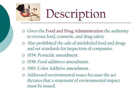 federal food drug  cosmetic act powerpoint