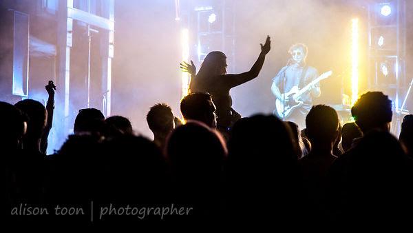 Enjoying the music at night, TBD Fest 2014