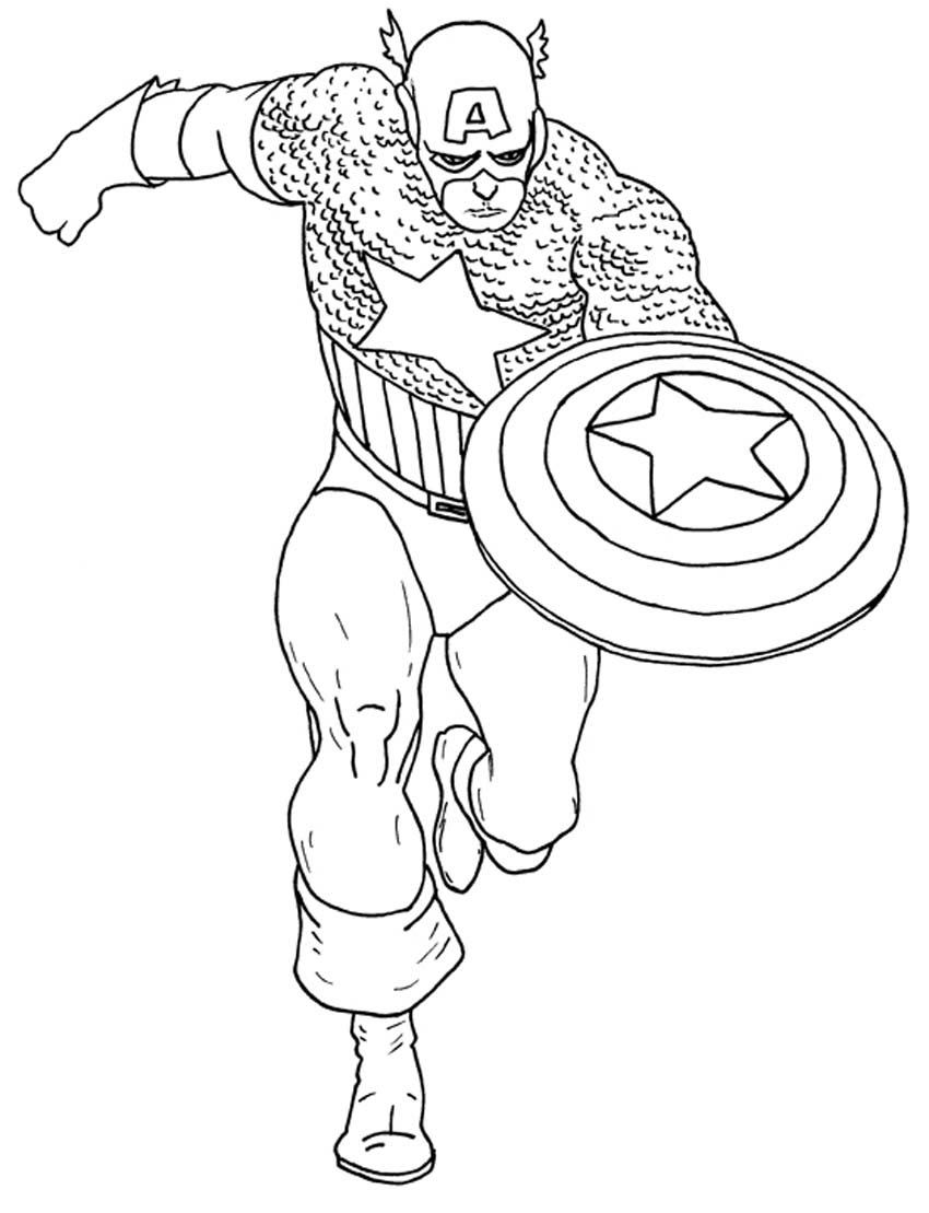 Printable Captain America Coloring Pages Coloringmecom
