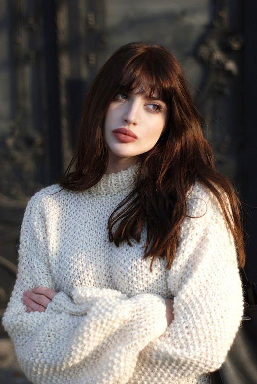 Le Fashion Blog Blogger Style Oversize Ivory Wool Knit Sweater Via Horkruks