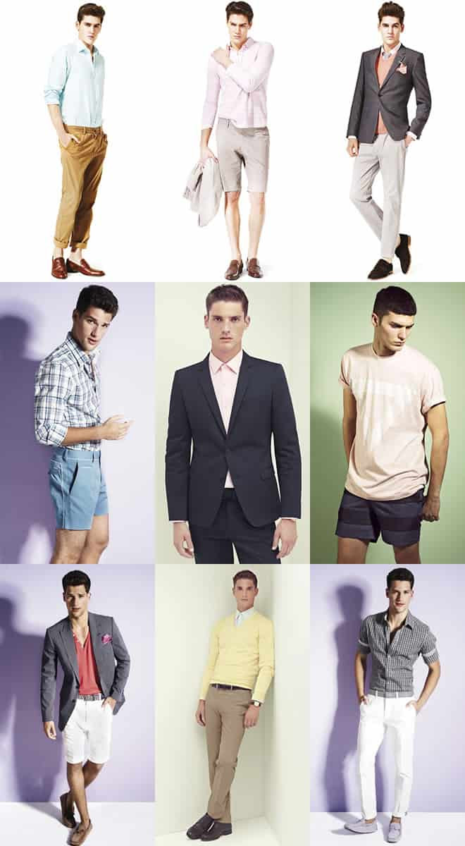 Men's Subtle Pastel Colours Lookbook
