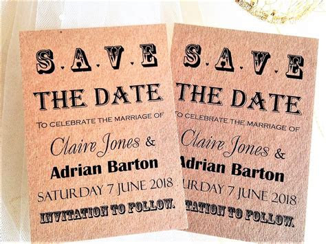 Vintage Save The Date Cards   Wedding Save The Date Cards