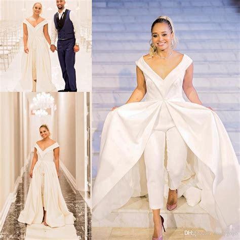 discount   size women jumpsuit wedding dresses