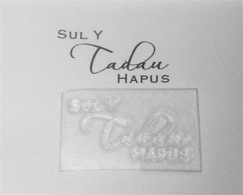 Welsh Happy Father's Day, Sul Y Tadau Hapus script stamp