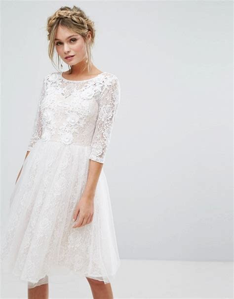Chi Chi London   Chi Chi London Bridal Lace Midi Dress