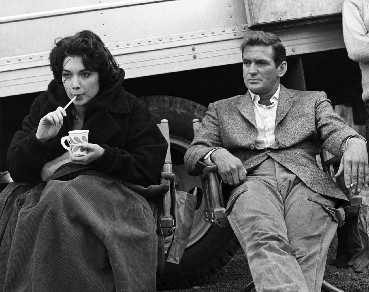 Trim Cargo Pants For Those Rough Days At The Office.Rod Taylor, with Suzanne Pleshette, 1962.