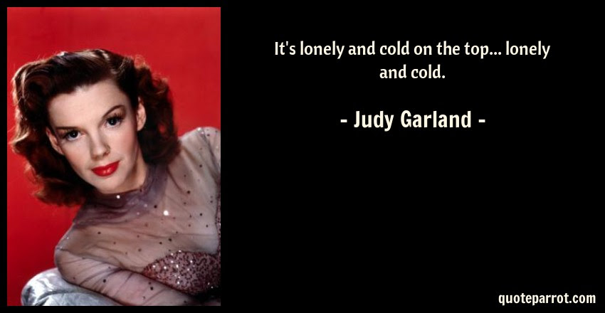 Its Lonely And Cold On The Top Lonely And Cold By Judy Garland