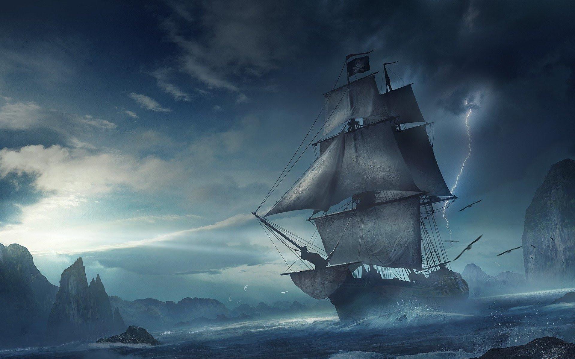 Pirate Ship Wallpaper Sf Wallpaper