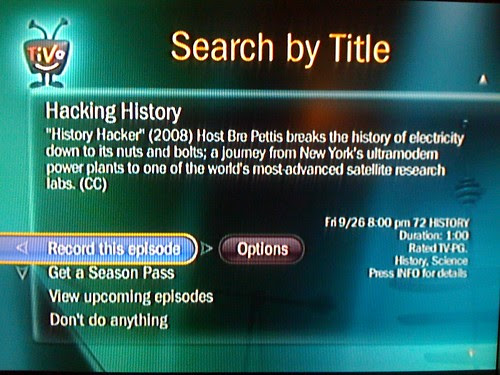 Record 'Hacking History' on your TiVo