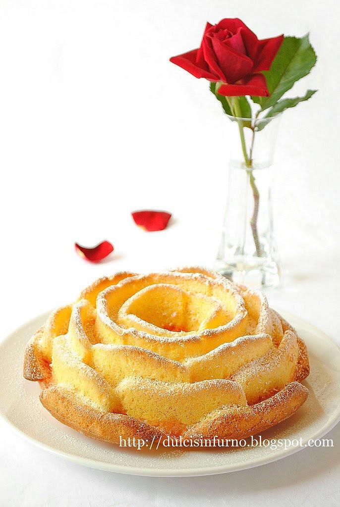 Torta Rosa al Limone e Amarena-Lemon and Sour Cherry Rose Cake