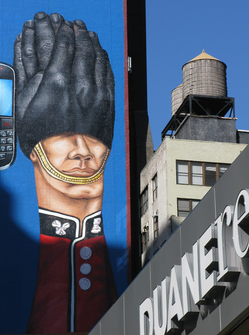 billboard and a water tower, Manhattan, NYC