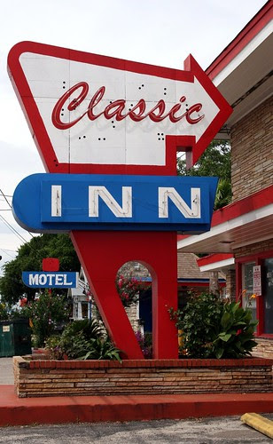 classic inn neon sign