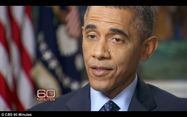 President  Obama spoke about the rise of ISIS in Syria in a televised interview with 60 Minutes, which aired Sunday night. He threw the intelligence community under the bus