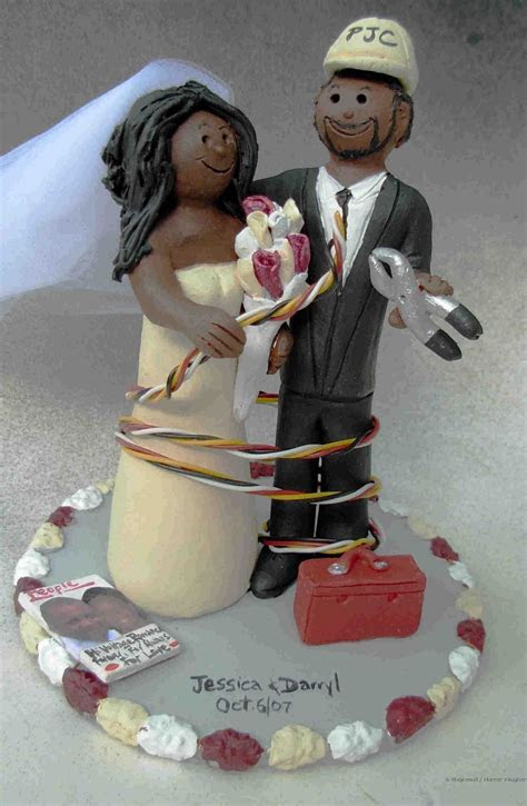wedding cake toppers: African American Wedding Cake