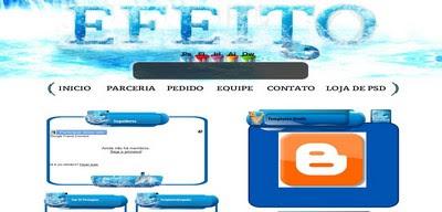 Template Efeito 3D Blogger