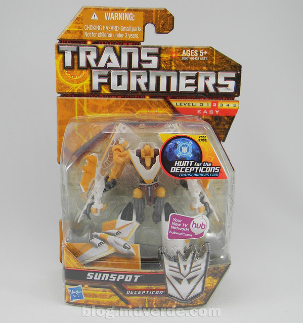 Transformers Sunspot Hunt for the Decepticons Scout - caja