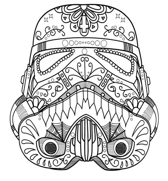 Star Wars Free Printable Coloring Pages for Adults & Kids {Over ...