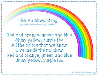 ec activities the rainbow song - All The Colors Of The Rainbow Song