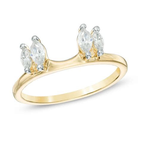 1/2 CT. CT. T.W. Marquise Diamond Solitaire Enhancer in