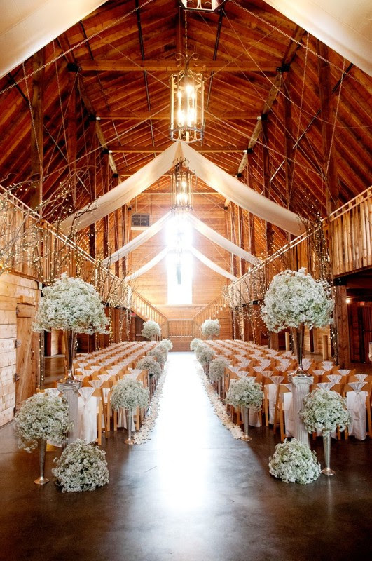 inspirational ceremony ideas for planning a barn wedding