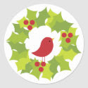 Christmas Wreath 2 Stickers
