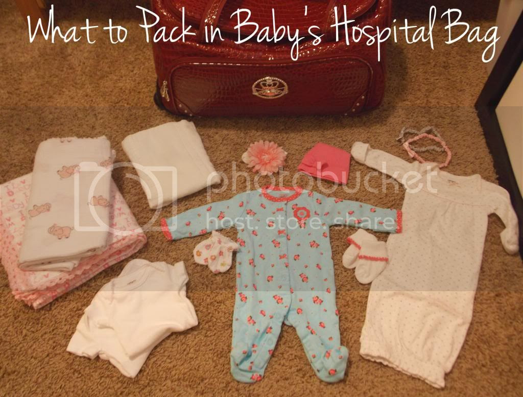 Baby Hospital Bag Packing List