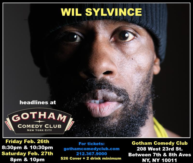 Wil Sylvince headlines at Gotham Comedy