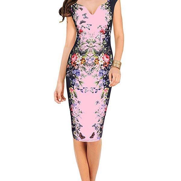 Dillards dresses floral v evening bodycon dress collar canada